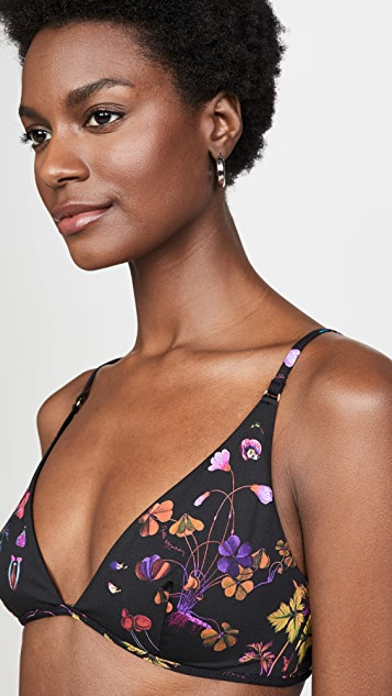 Stella McCartney Trippy Floral Triangle Bikini Top
