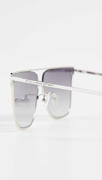 Stella McCartney Солнцезащитные очки «авиаторы» в квадратной оправе Sunset