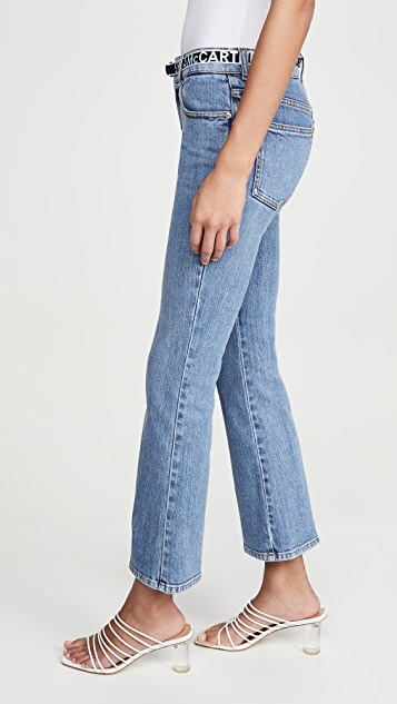 Stella McCartney 中腰徽标腰带牛仔裤