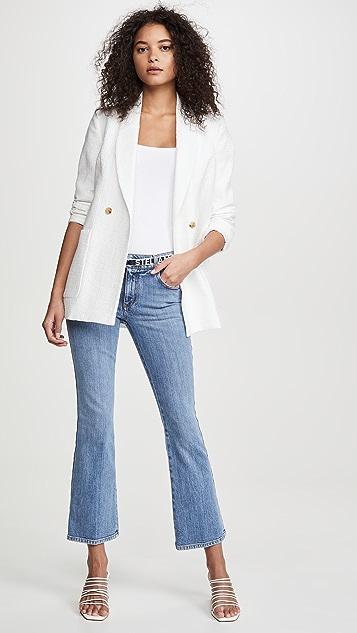 Stella McCartney Mid Rise Logo Belt Jeans