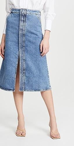 Stella McCartney - Eco Denim Salt & Pepper Skirt