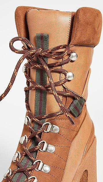 Stella McCartney Сапоги на шнуровке