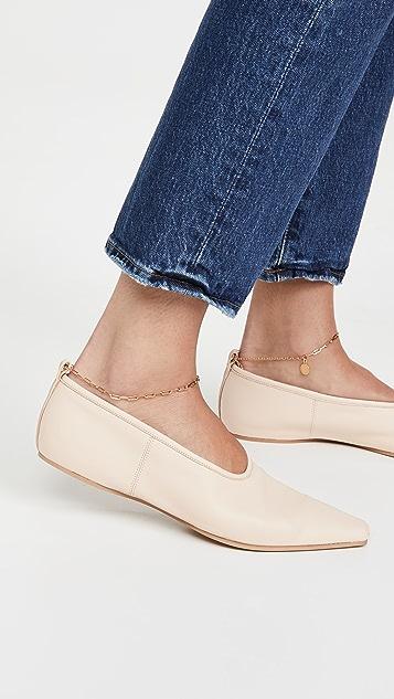 Stella McCartney Ballerina Anklet Flats