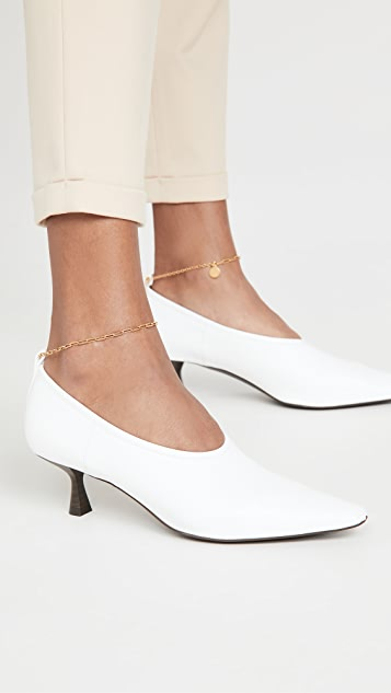 Stella McCartney Mid Heel Anklet Pumps