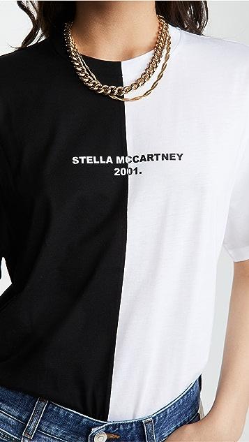 Stella McCartney Half Half 徽标 T 恤