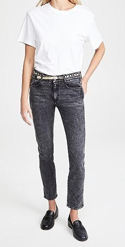 Stella McCartney - Logo Belt Skinny Boyfriend Jeans