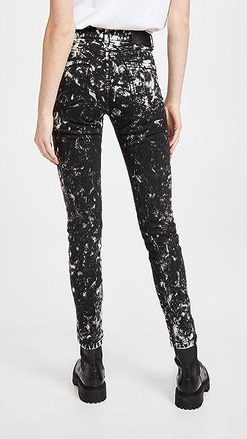 Stella McCartney 高腰紧身外翻式黑色银河款牛仔裤