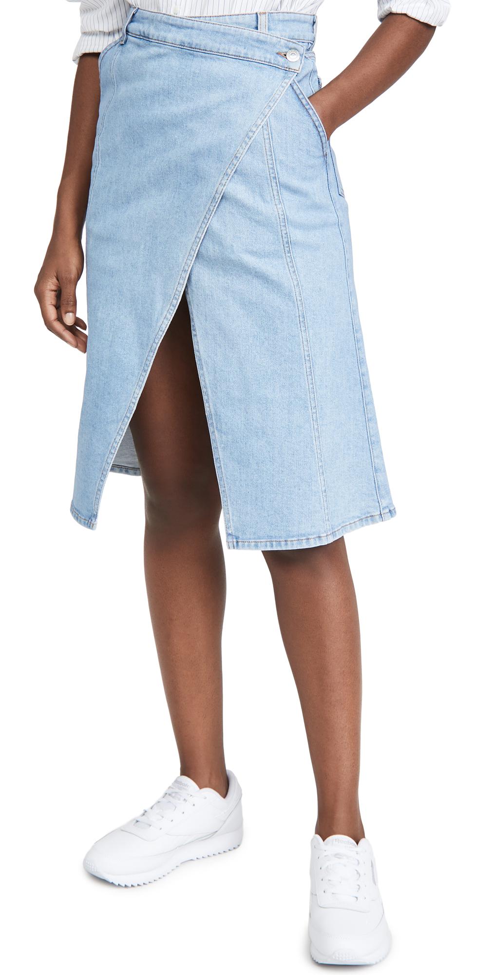 Stella McCartney Peyton Denim Skirt Super Fade Fash