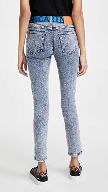 Stella McCartney Mid Rise Skinny Boyfriend Jeans