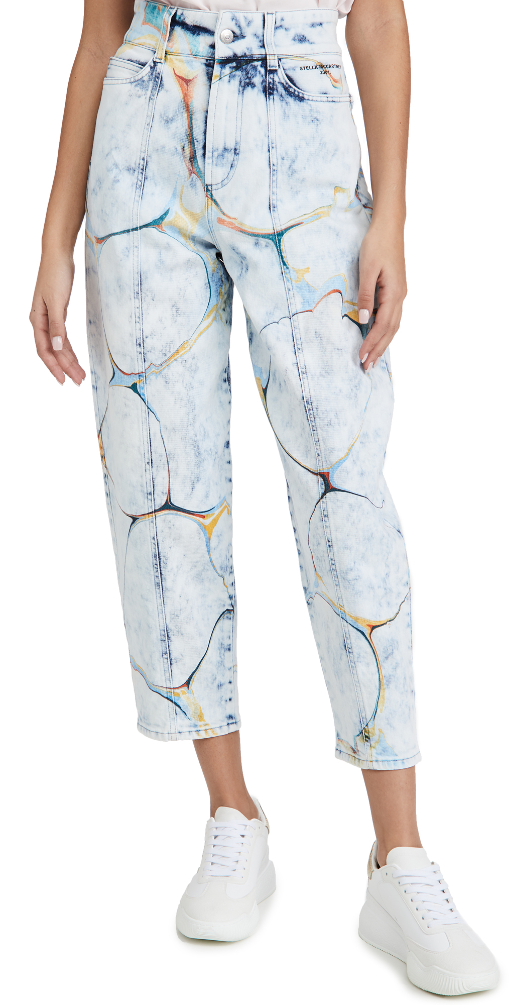 Stella McCartney High Rise Straight Leg Jeans