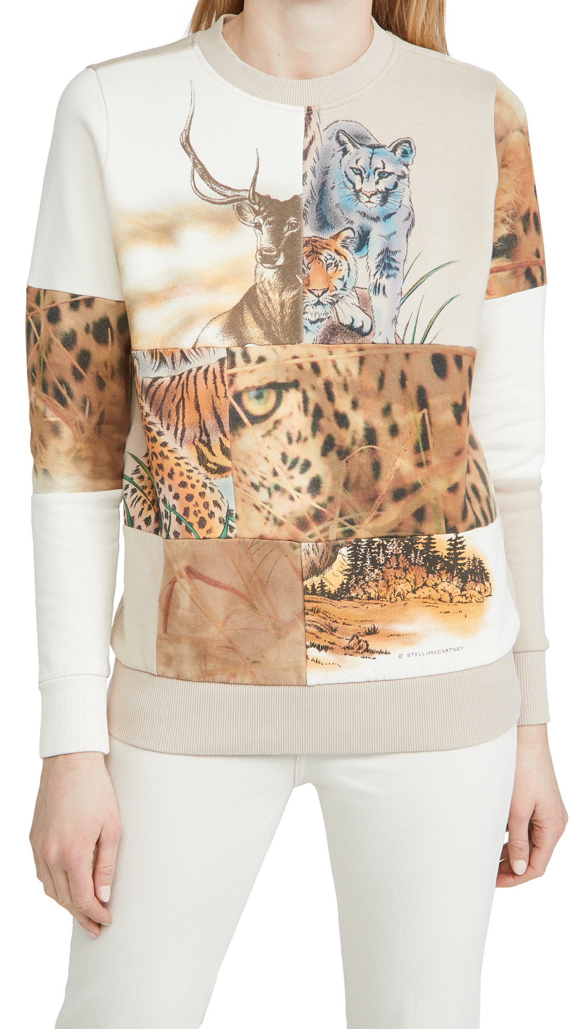 Stella Mccartney NATURE PATCHWORK SWEATSHIRT