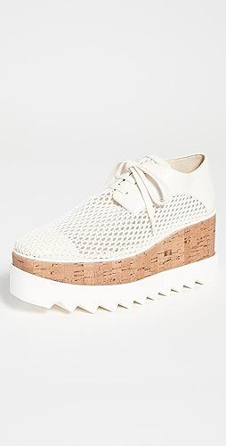 Stella McCartney - Elyse 梭织网面厚底鞋