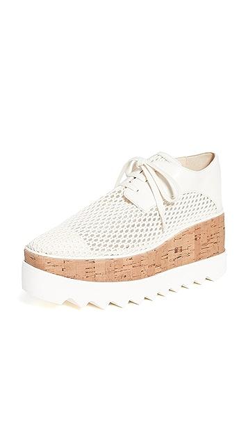 Stella McCartney Elyse Woven Mesh Platform Shoes