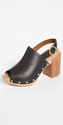 Stella McCartney - 雏菊露趾木底鞋