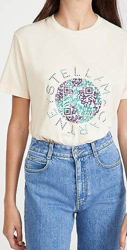 Stella McCartney - QR Earth Print T 恤
