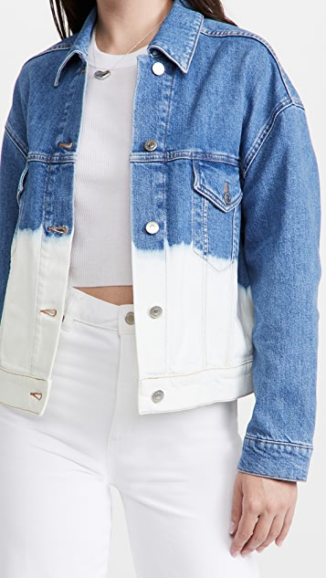 Stella McCartney Dip Faded Hem Wash Jacket