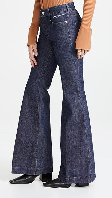 Stella McCartney The 70's Flare Dark Wash Jeans