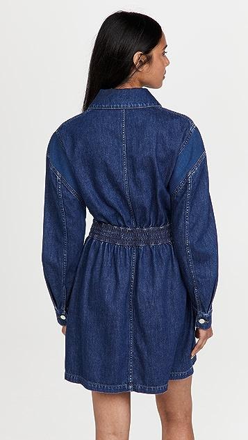 Stella McCartney 罗纹靛蓝牛仔布连衣裙
