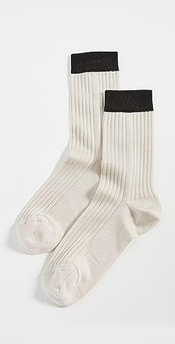 Stems - Blocked Rib Socks