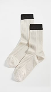 Stems Blocked Rib Socks