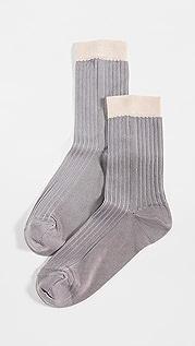 Stems Blocked Rib Socks