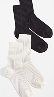 Stems 经典罗纹袜 - 2 双装