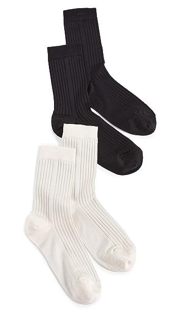 Stems Classic Rib Socks - 2 Pack Offering