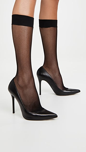 Stems Micro Fishnet Knee High Tights