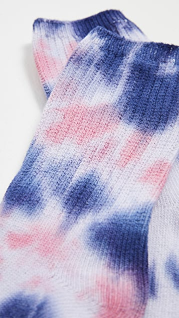 Stems Tie Dye Sport Crew Socks