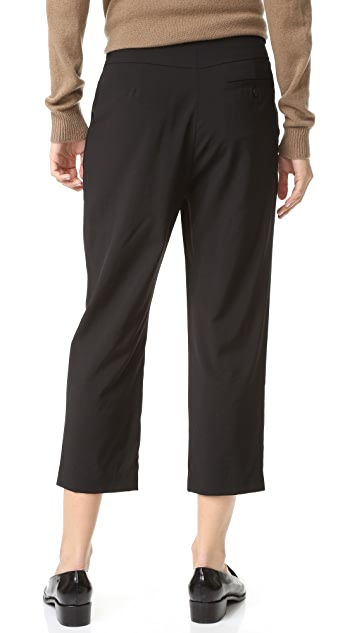 Steven Alan Cropped Pleated Trousers