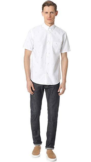 Steven Alan Short Sleeve Cadet Shirt