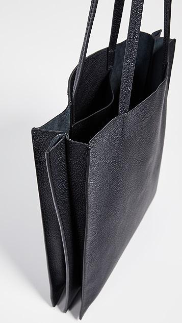Steven Alan Объемная сумка с короткими ручками со вставками гармошкой Maddox