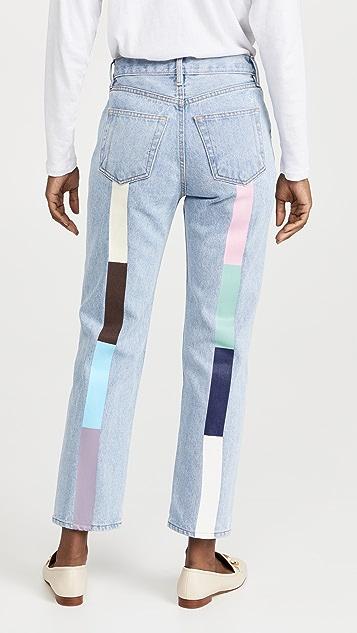 Still Here Pastel Rainbow Tate Crop Jeans