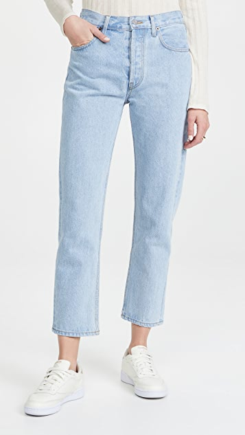 Still Here Wool Gingham Tate Jeans