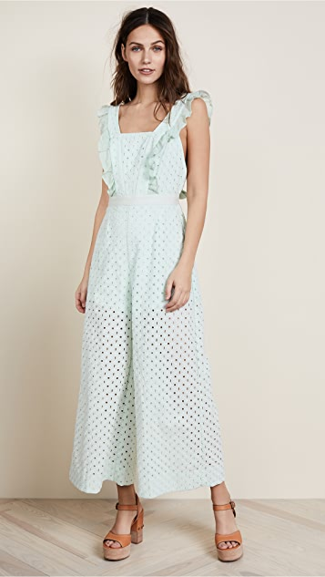 Stevie May Inhale Broidery Jumpsuit - Mint