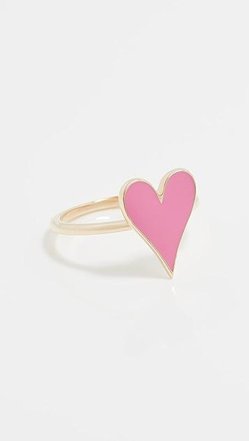 Stephanie Gottlieb 14k Small Enamel Heart Ring