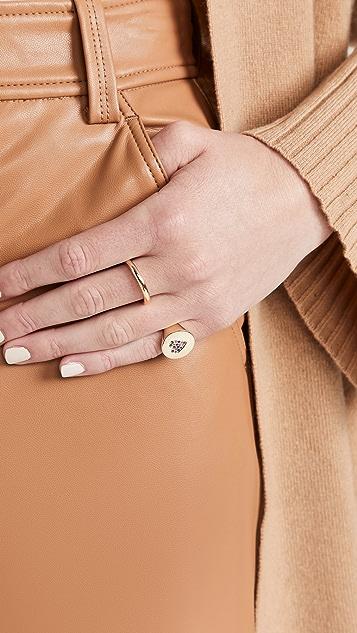 Stephanie Gottlieb 14K 密镶心形图章戒指