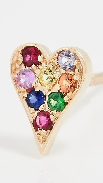 Stephanie Gottlieb 14k Mini Rainbow Heart Studs