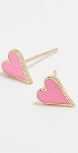 Stephanie Gottlieb - 14k Mini Enamel Heart Studs