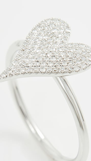 Stephanie Gottlieb 小号密镶心形戒指
