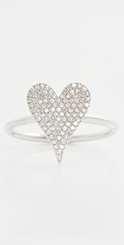Stephanie Gottlieb - Small Pave Heart Ring
