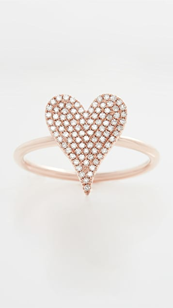 Stephanie Gottlieb Small Pave Heart Ring