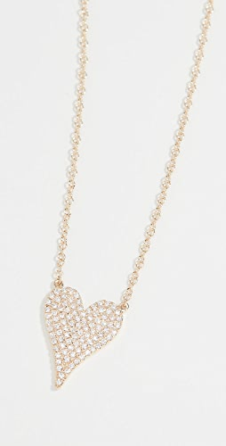 Stephanie Gottlieb - Small Pave Heart Necklace