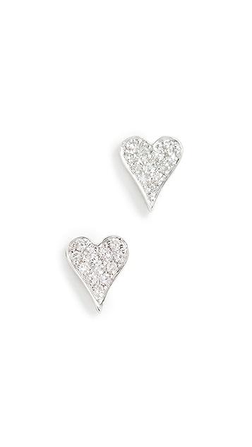 Stephanie Gottlieb Mini Heart Studs