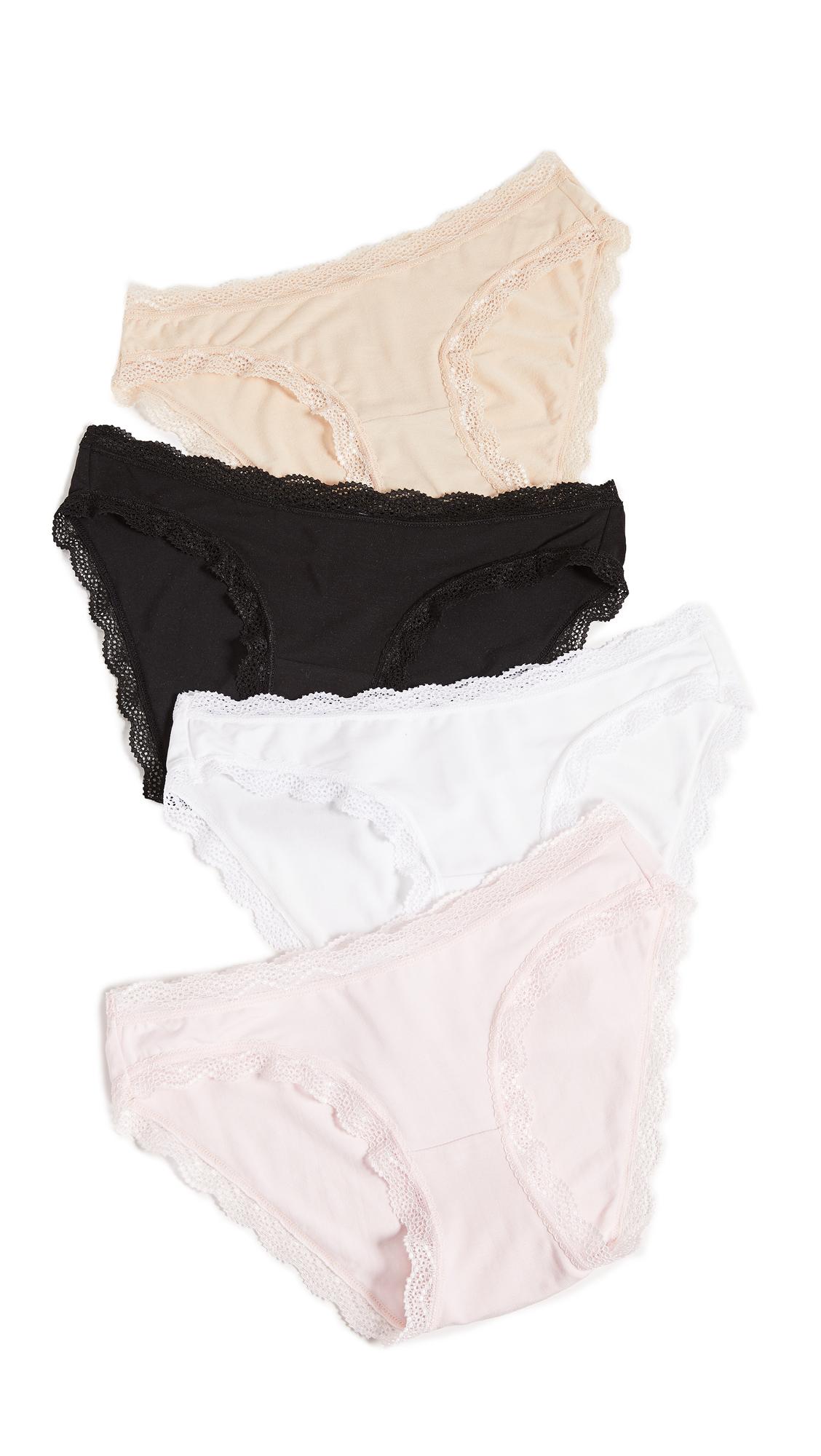 Stripe & Stare Basics Bikini Briefs 4 Pack