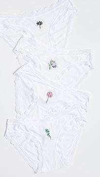 Wildflower Bikini 4 Pack