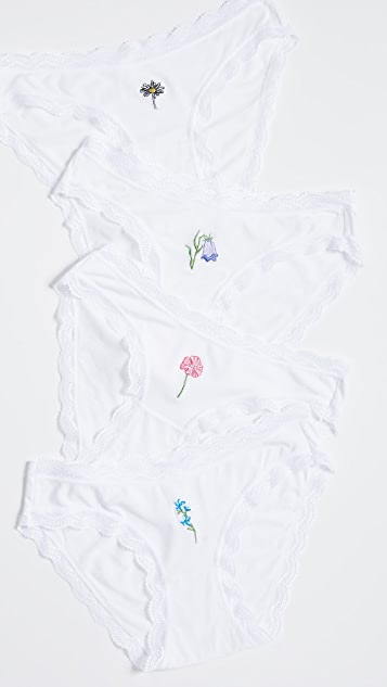 Stripe & Stare Wildflower Bikini 4 Pack