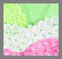 белый/зеленый/розовый
