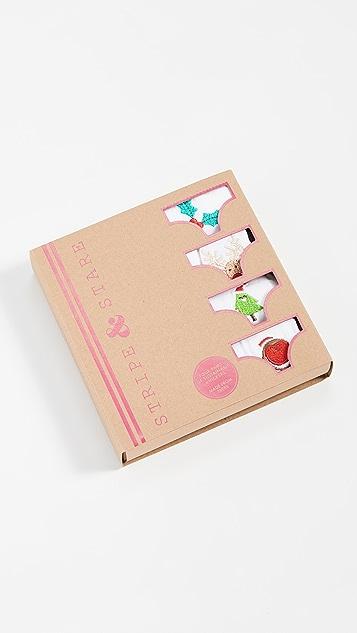 Stripe & Stare Christmas Bikini 4 Pack