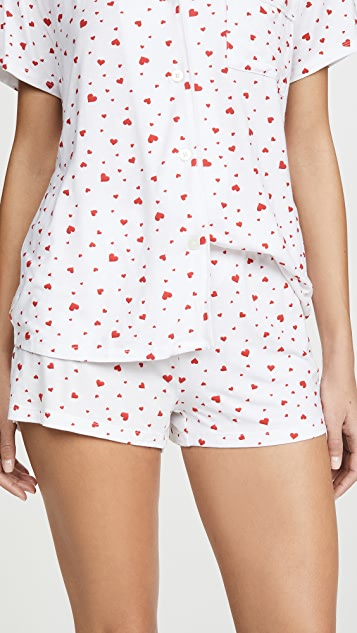 Stripe & Stare Scattered Heart Bedshorts Set